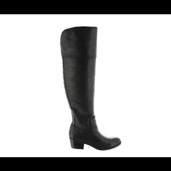 Vince Camuto Shoes - Vince Camuto Bilco Black Leather Knee High Boots